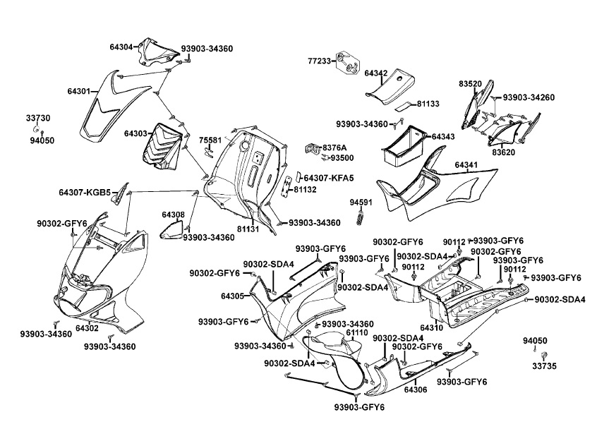 Kymco Scooter Parts  Atvs Scooter Parts  Performance